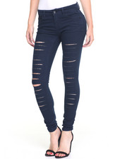 Women - Slashes Galore Stretch  Skinny Jean