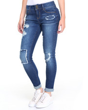 Women - Patches, Rips & Repairs Roll Cuff Skinny Jean