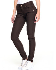 Fashion Lab - Coffee Bean Stan 5 Pocket Denim Jeans
