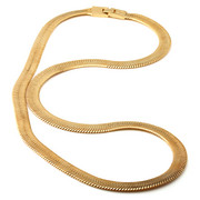 Men - 10mm Thin 14K Gold Herringbone Chain