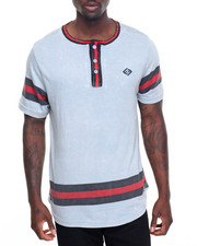 Men - Printed Stripe Henley