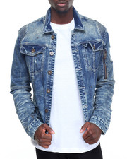 Men - Over - Washed Denim Jacket