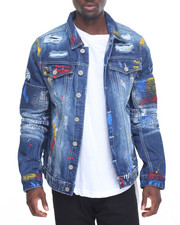 Outerwear - Bleed - Thru Rip - And - Repair Denim Jacket