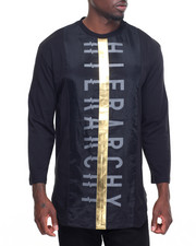 Koodoo - DBL Layer Gold Panel Hierarchy Side Zip Tee