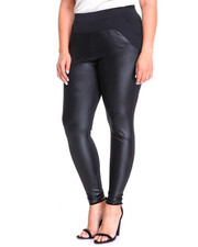 Plus Size - Rebecca Scuba Legging W/Pockets Vegan Letter Detail (plus)