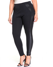 Fashion Lab - Tux Stipe Leggings W/pockets