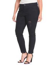 Jeans - Frontal Destruction Skinny Jean (Plus)