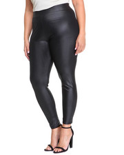 Plus Size - Veep Vegan Leather Legging