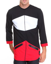 Koodoo - 3/4 Sleeve Color Block Performance Shirt