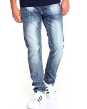 Men - Thick - Stitch Slim - Straight Denim Jeans