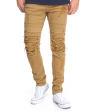 Jeans & Pants - Slim - Fit Rip - Off Twill Pants