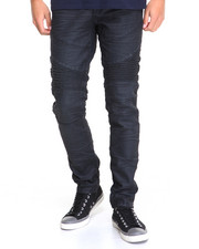 Jeans & Pants - Waxed Colored Slim - Fit Biker Denim Jeans