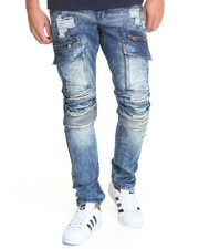 Basic Essentials - Cargo Biker Denim Jeans