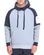 Men - Dot Print Poly Fleece Pullover Hoodie