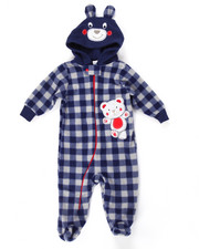 Infant & Newborn - BEAR HUGS MICRO POLAR COVERALL (NEWBORN)