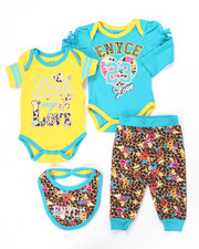 Infant & Newborn - 4 PC CREEPER PANTS SET (NEWBORN)