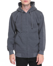 Men - Basic Zip - Up Fleece Hoodie
