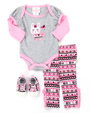 Infant & Newborn - 3 PC BUNNY SNEAKER SET (NEWBORN)
