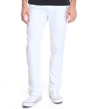 Men - Basic Washed Flat Front Chino Pants
