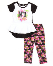 Apple Bottoms - 2 PC PEPLUM TEE & LEGGINGS SET (2T-4T)