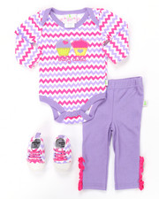 Infant & Newborn - 3 PC CUPCAKE SNEAKERS SET (NEWBORN)
