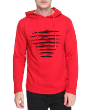 Men - Rip - Repair Back - Zip French Terry Pullover Hoodie