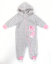 Infant & Newborn - FOXY MICRO POLAR HOODED COVERALLS (NEWBORN)