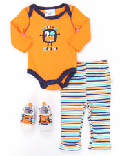 Boys - 3 PC LIL' MONSTER SNEAKERS SET (NEWBORN)