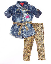 Sets - 2 PC ACID WOVEN & LEGGINGS SET (2T-4T)