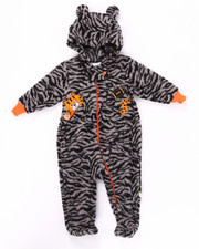 Infant & Newborn - TIGER MICRO POLAR HOODED COVERALLS (NEWBORN)