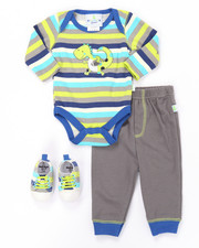 Infant & Newborn - 3 PC DINO SNEAKERS SET (NEWBORN)