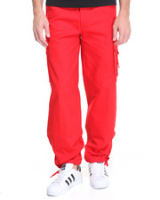 Men - Belted Cotton Cargo Pants