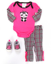 Infant & Newborn - 3 PC PANDA SNEAKERS SET (NEWBORN)