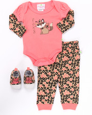 Infant & Newborn - 3 PC FOX SNEAKERS SET (NEWBORN)