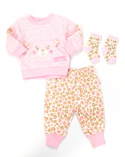 Infant & Newborn - 3 PC DIAMOND QUILT JOGGER SET (NEWBORN)