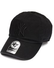 Hats - New York Yankees Black on Black Clean Up 47 Strapback Cap