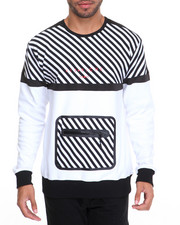 Men - Contrast Tech Crewneck Sweatshirt
