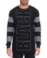 Men - Black 3 M Stripe L/S Tee