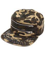 Men - DESTROYED ZIPPER STUDS CAMPER CAP