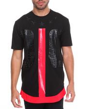 Shirts - Studded Panel S/S Tee