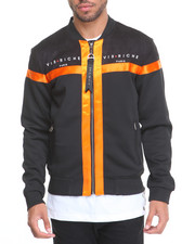 Men - Citrus Striped Bomber Jacket