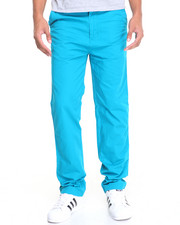 Pants - Basic Washed Flat Front Chino Pants