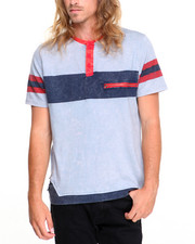 Men - Racing Henley  T-Shirt