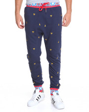 Men - Imperious Micro - Print Fleece Joggers
