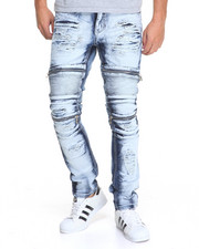 Men - Slim - Fit Moto Rip - Off Denim Jeans