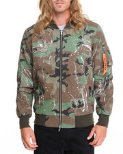 Men - MILITIA SPLATTER BOMBER JACKET