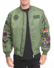 Buyers Picks - M A 1 - Style Multi - Patch Nylon Bomber Jacket