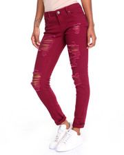 Women - Rips & Repairs Roll Cuff Skinny Jean