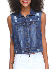 Fashion Lab - Destructed Denim Vest
