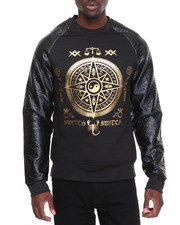 Men - Switch Gold - Print Crewneck Sweatshirt